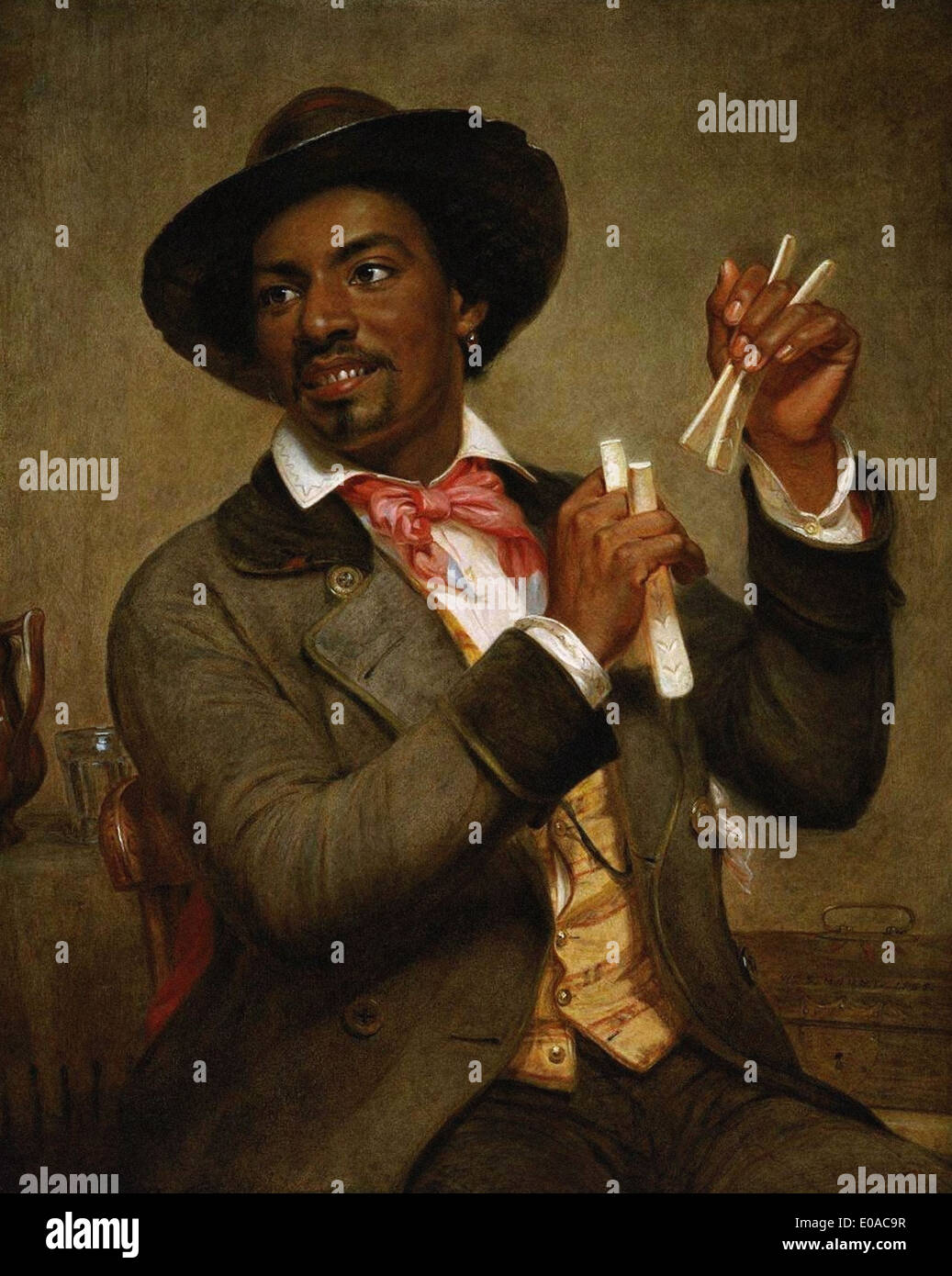 William Sidney Mount The Bone Player - Stock Image