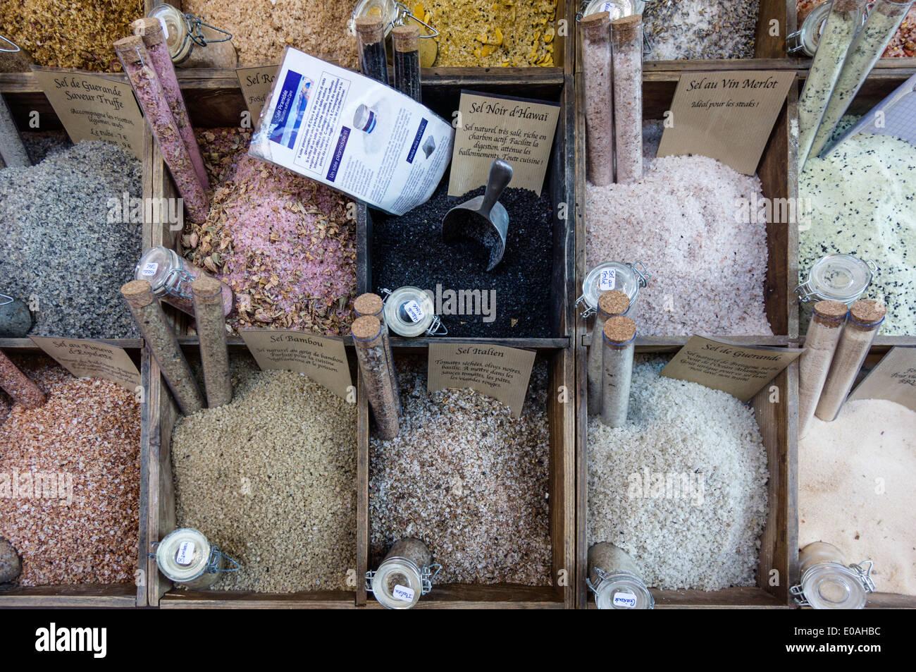 Salt Spices Market Stall Cours De Saleya Nice Alpes Maritimes
