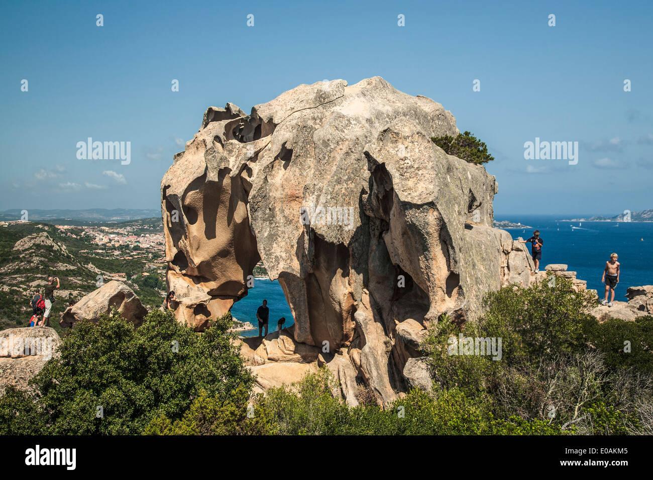 Boccia dell Elefante Elephant rock near Palau, Italy, Sardinia Stock Photo