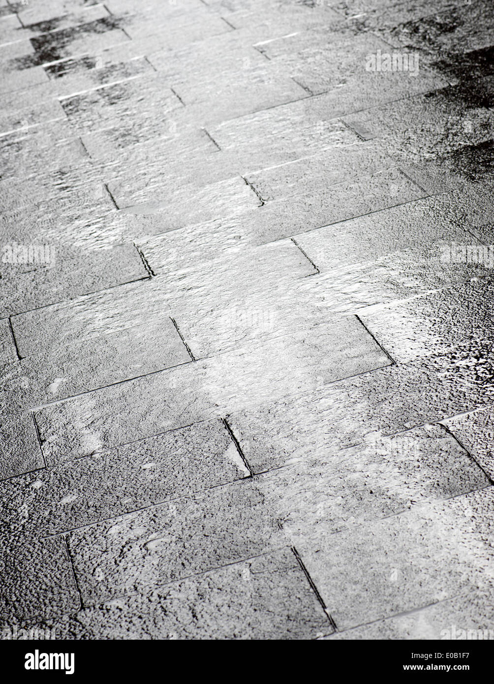 Floor Of A Street With Stone Tiles In Salamanca District Madrid