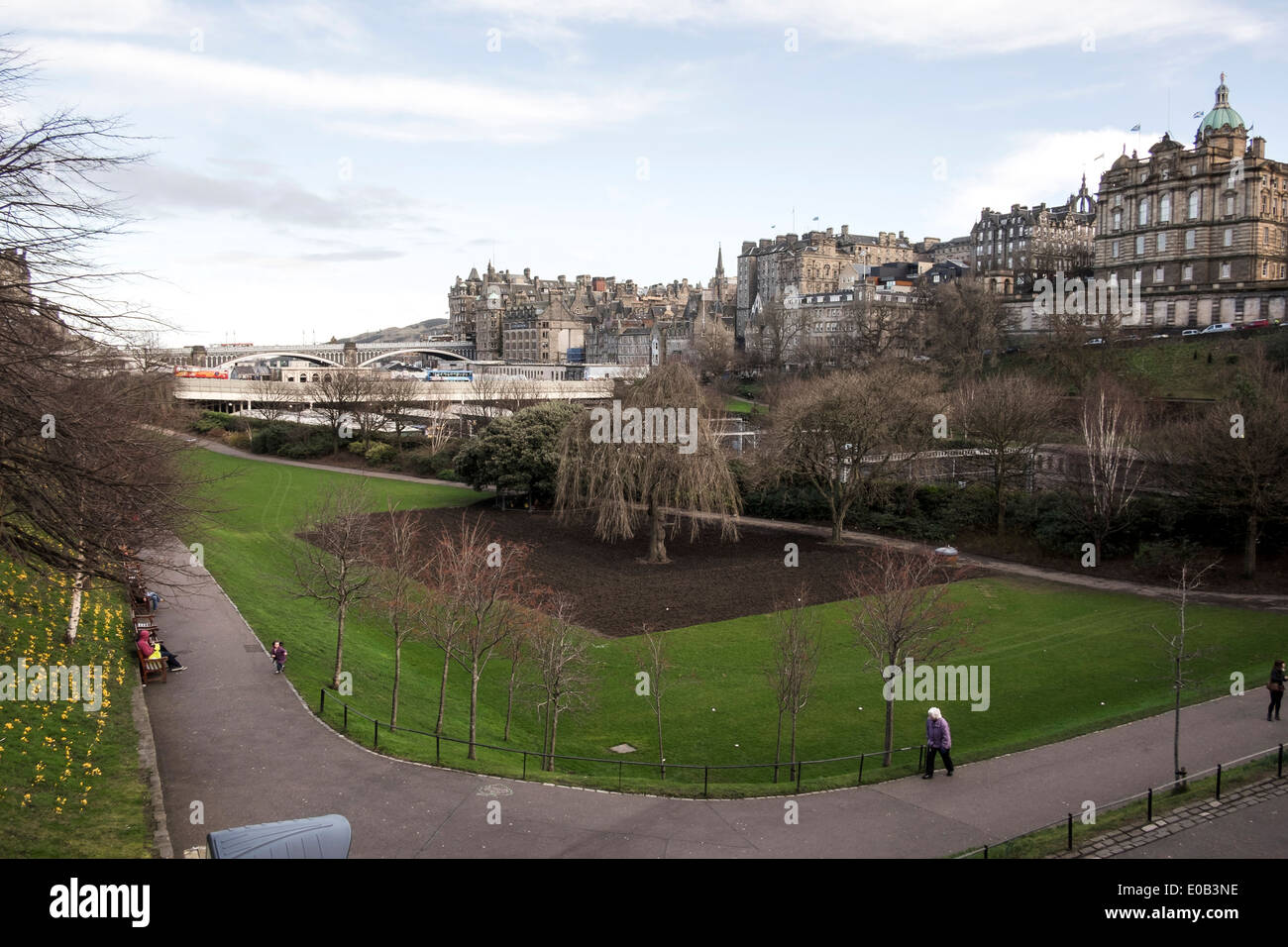 Princes Street Gardens Edinburgh - Stock Image