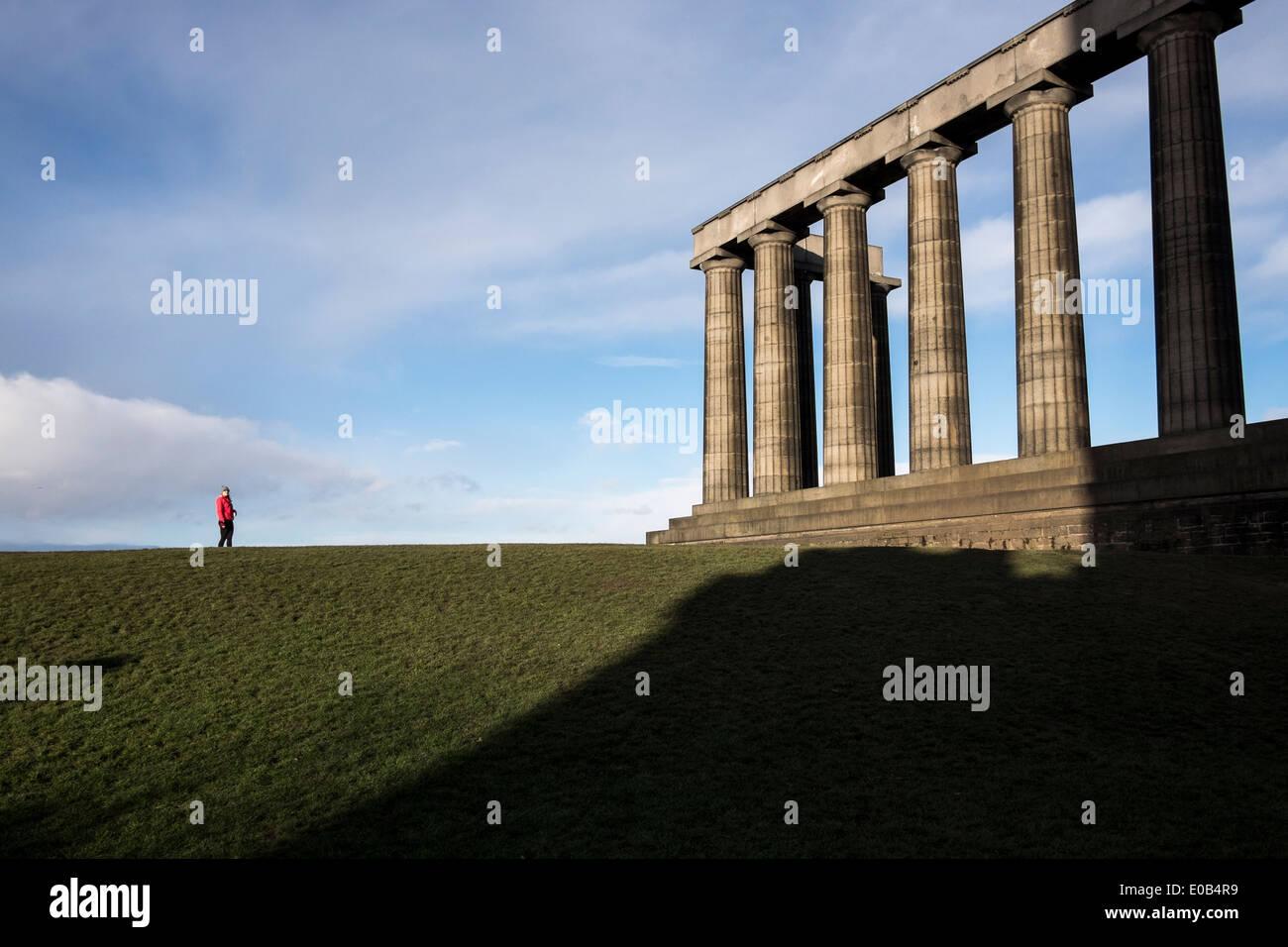 The Monument of Scotland in Edinburgh - Stock Image