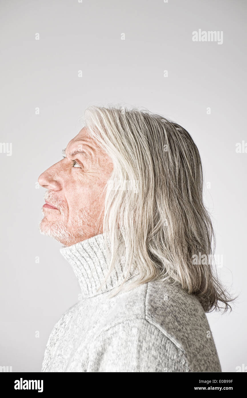 Portrait Of Mature Man Side View Looking Up Stock Photo 69090267 Alamy