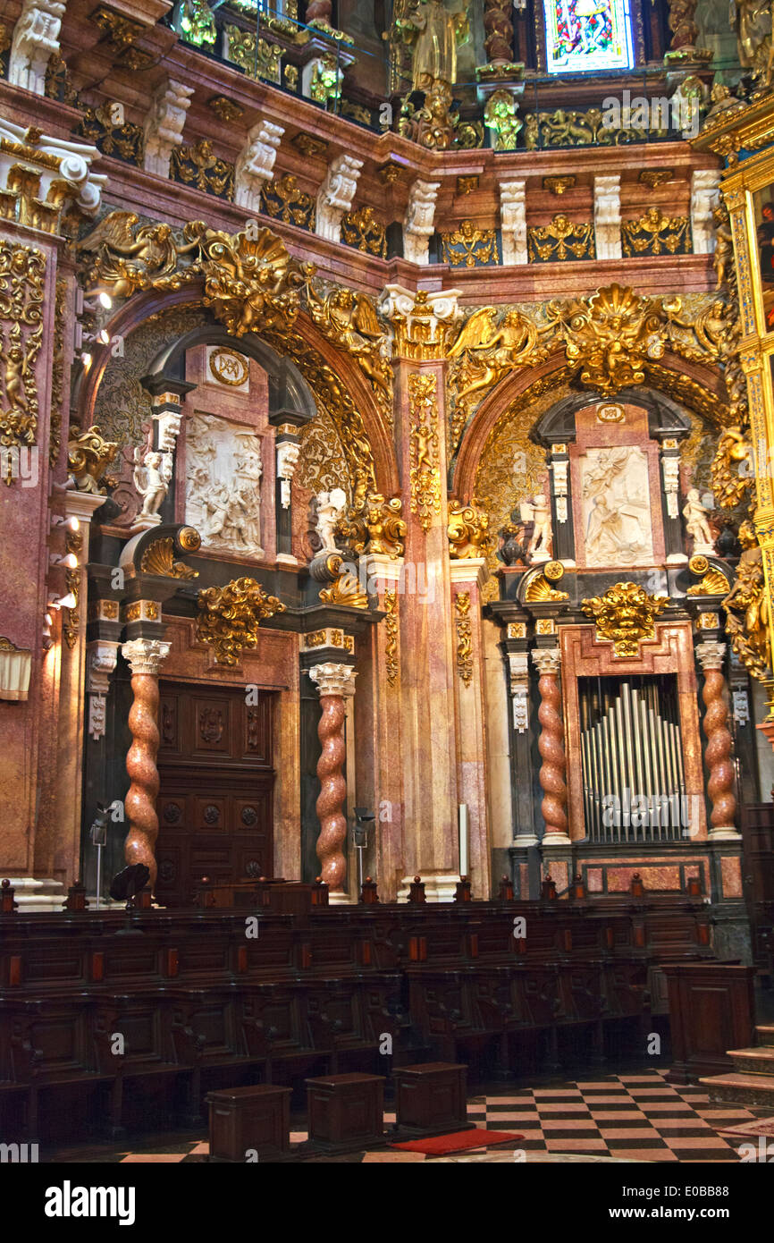 The Canonical Quire in Valencia Cathedral - Stock Image