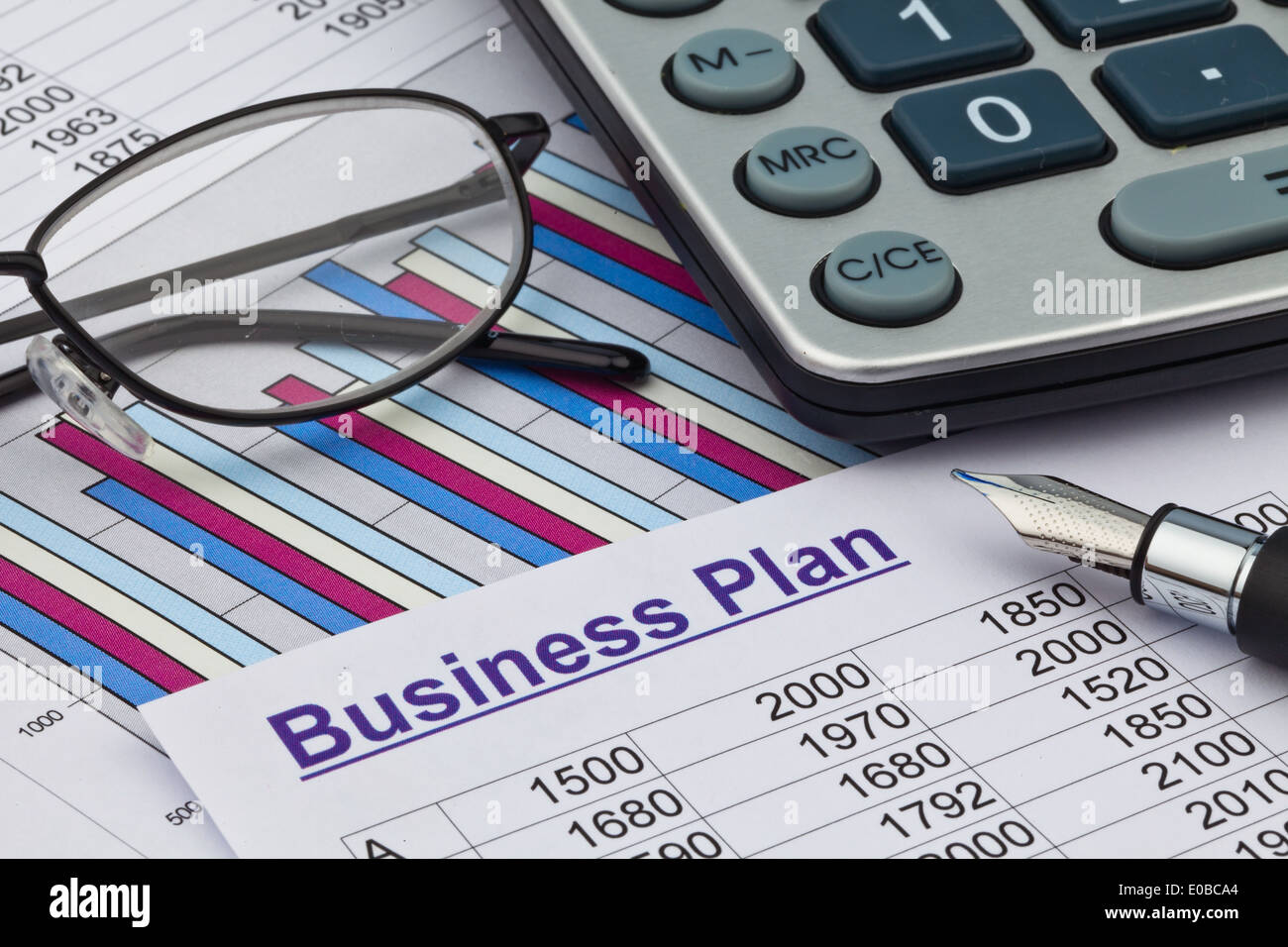 The business plan for companies or company foundation. Planning of a Jung's enterpriser., Der Businessplan fuer eine Firmen oder - Stock Image