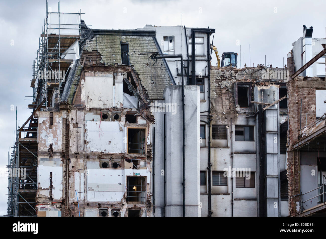 Demolition and redevelopment taking place in London's West End - Stock Image