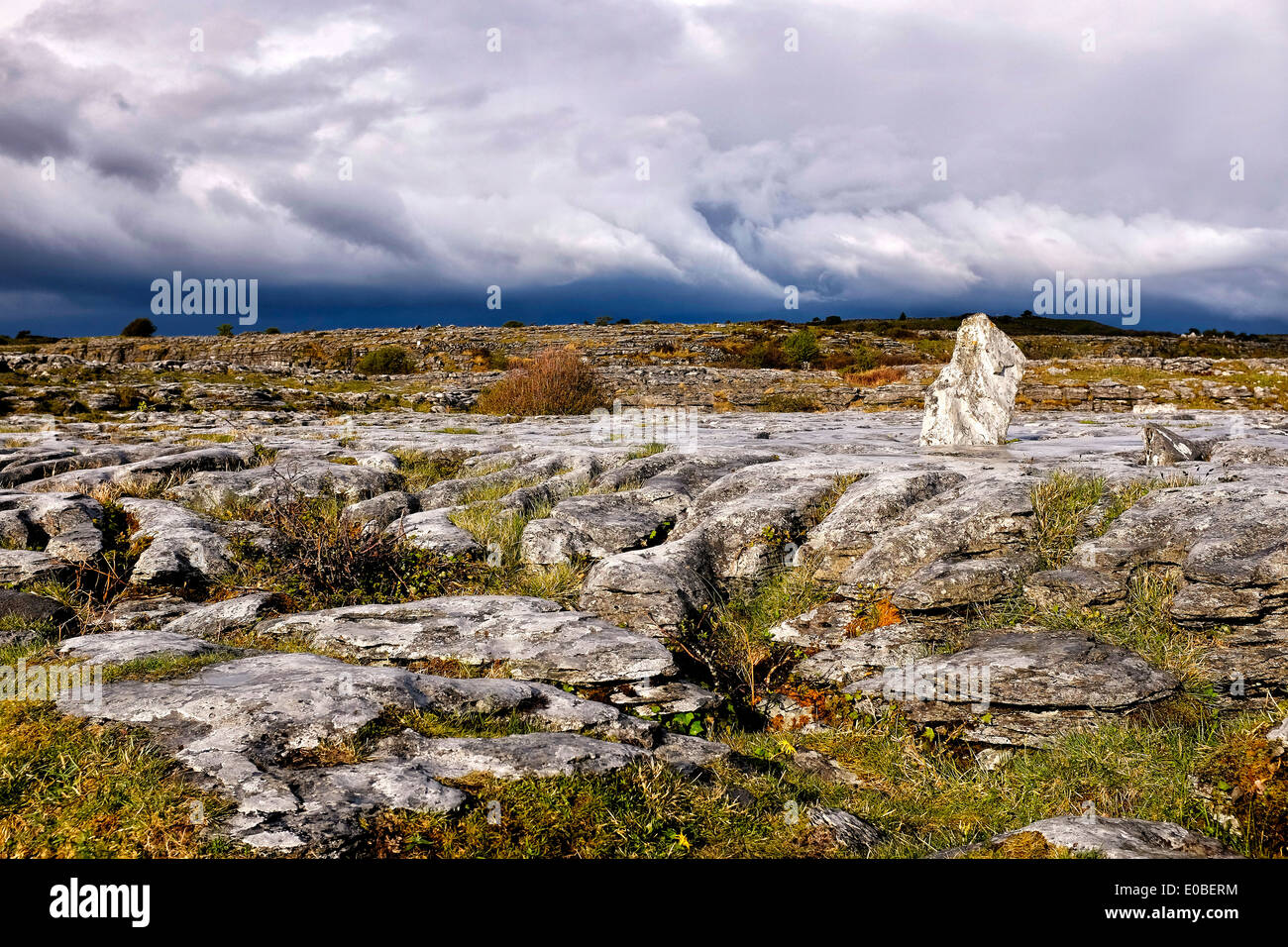 The karst hills of The Burren, County Clare, Ireland - Stock Image
