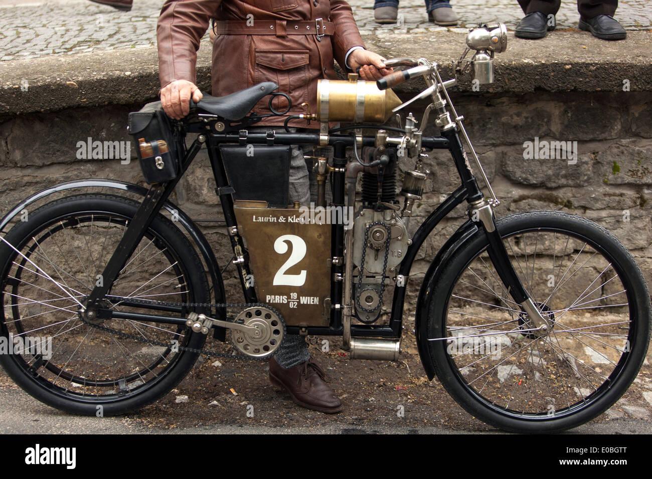 Veleran Oldtimer Vintage Motorcycle Laurin Klement 1902 Austro-Hungarian product - Stock Image