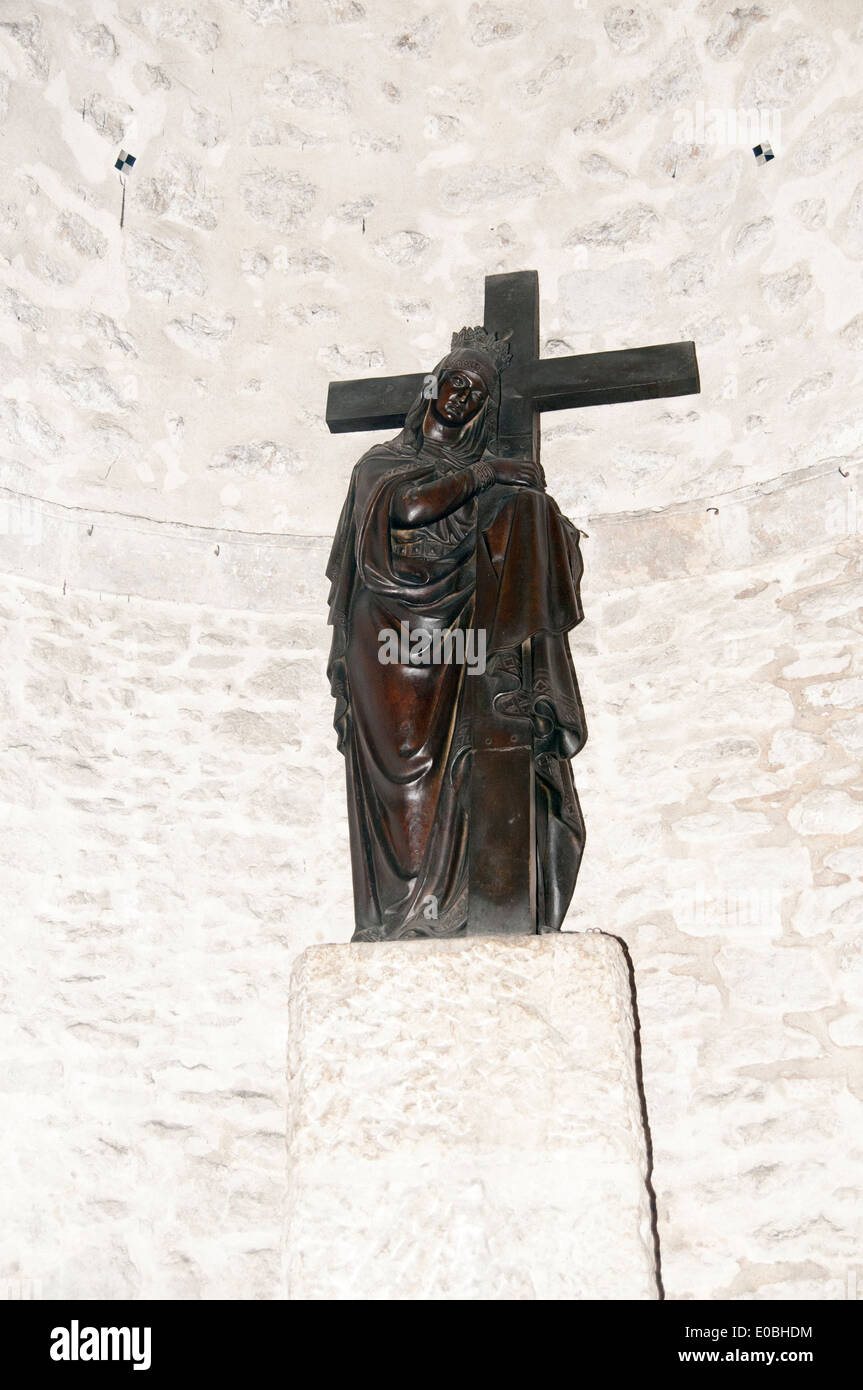 Statue of Saint Helena in the crypt of the Church of the Holy Sepulchre - Stock Image