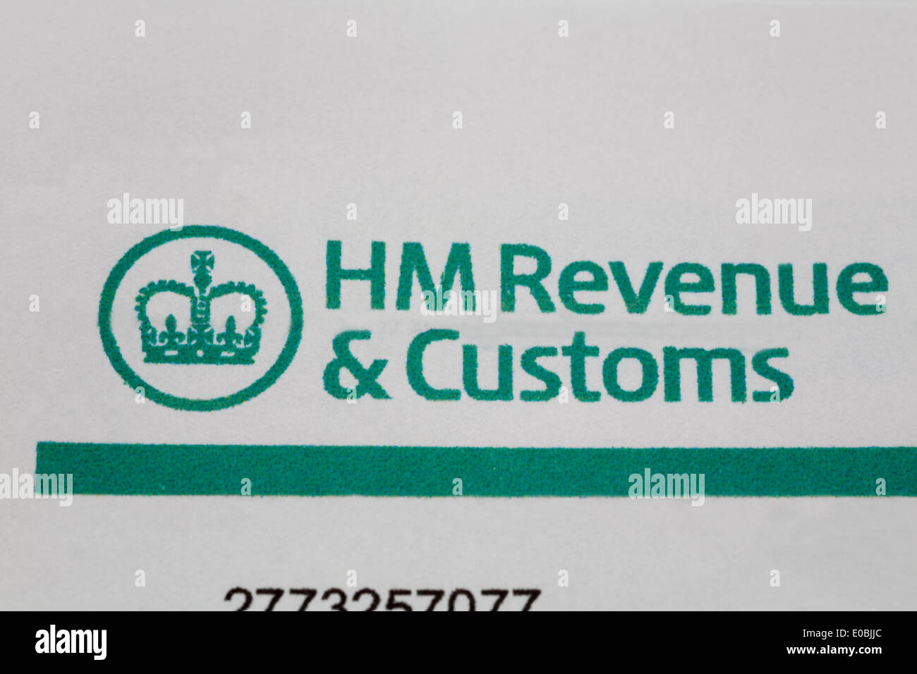 Correspondence headed paper from HM Revenue & Customs - Stock Image