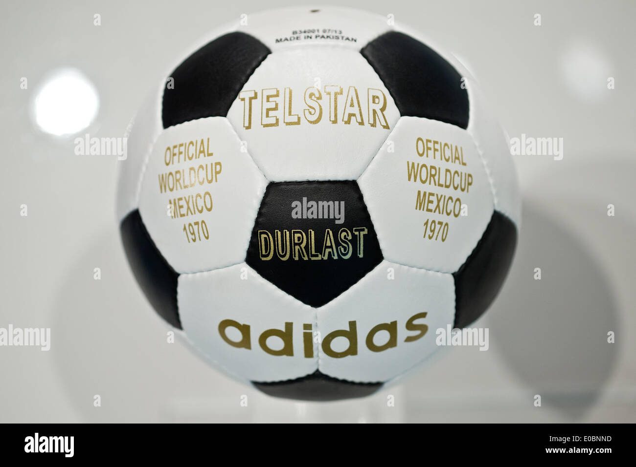 the latest 2bd33 13fe4 The  Telstar  soccer ball which was the official ball of the 1970 soccer  world cup in Mexico is pictured during the general meeting of sporting  goods ...