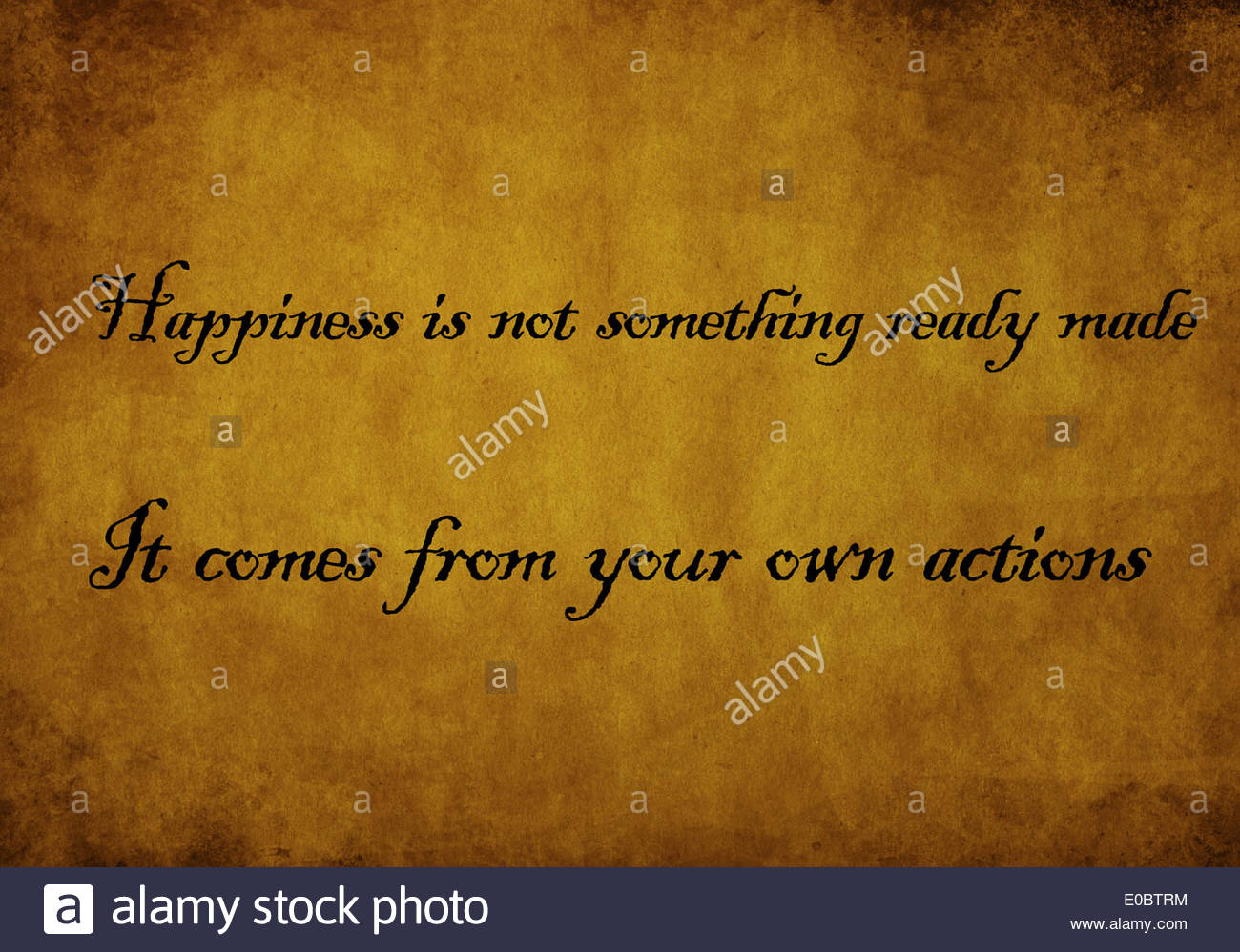 Inspiration and Motivating quote from Dalai Lama - Stock Image