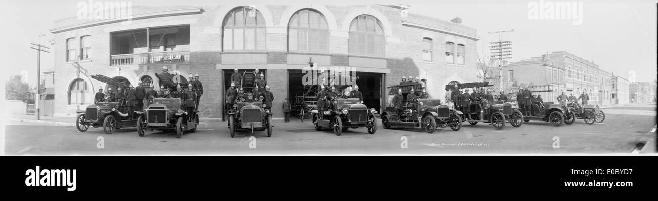 Fire Brigade, Christchurch, 1924 Stock Photo