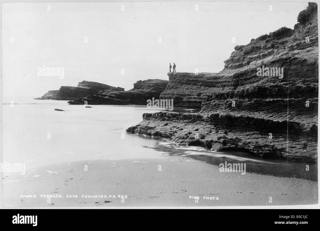Brown Terrace, Cape Foulwind, between 1879 and 1929 - Stock Image