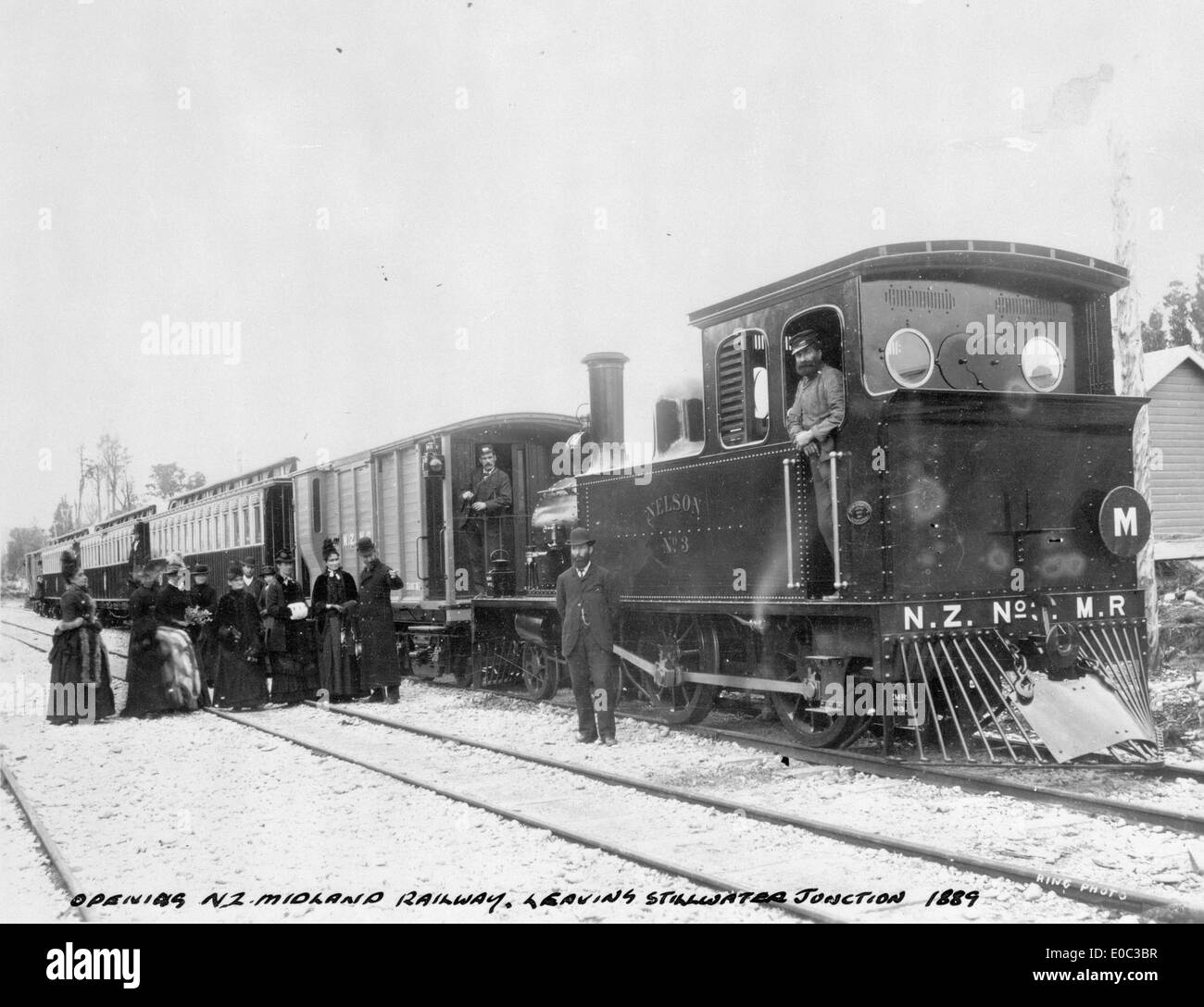 Opening of the Midland Railway, Stillwater junction, 1889 - Stock Image