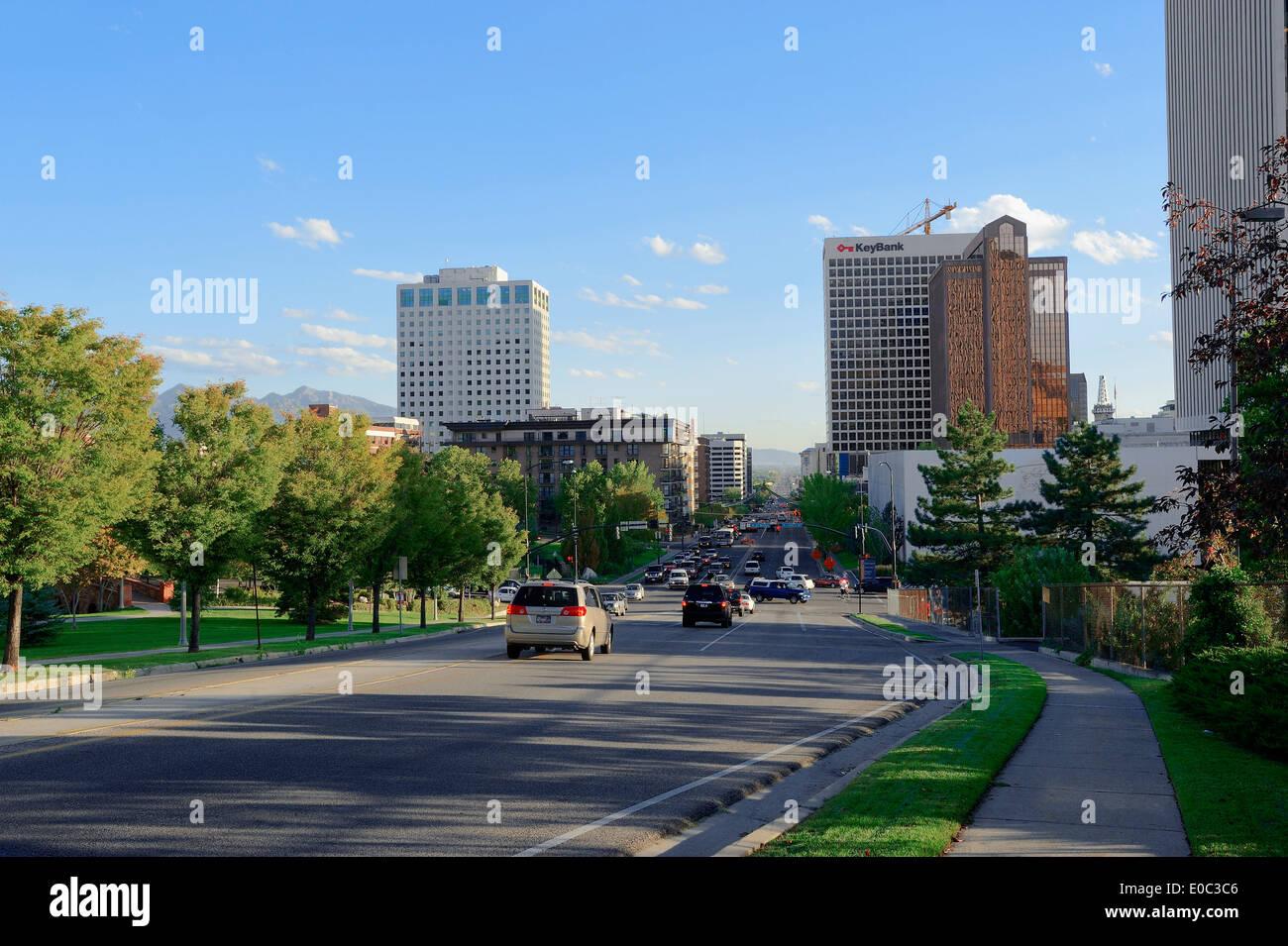 Street, Salt Lake City, Utah, USA - Stock Image