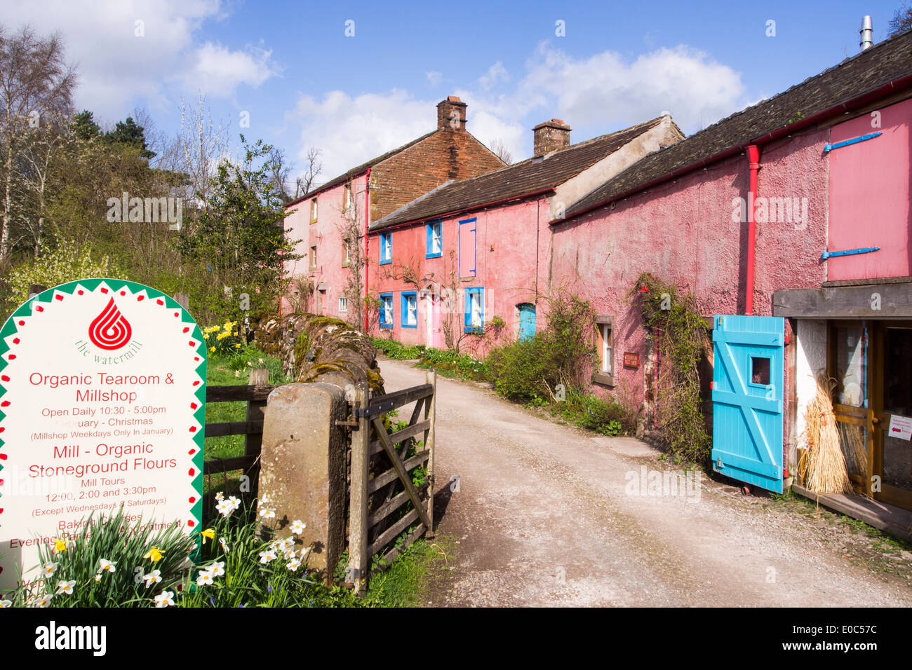 An organic watermill in Little Salkeld, in the Eden Valley, Cumbria, UK. - Stock Image