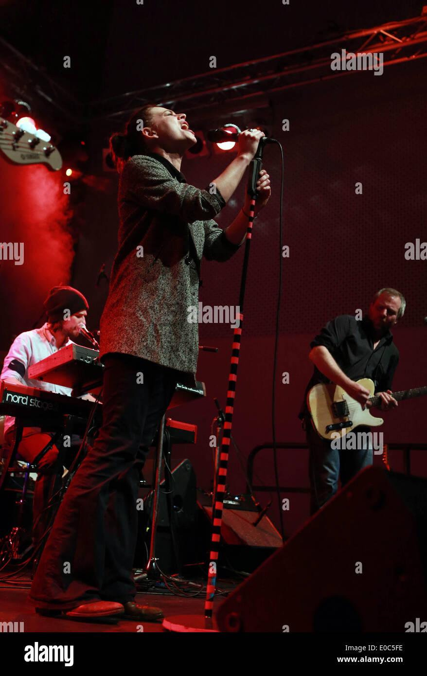 Frankfurt, Germany  8th May, 2014  German singer Cathe sings during