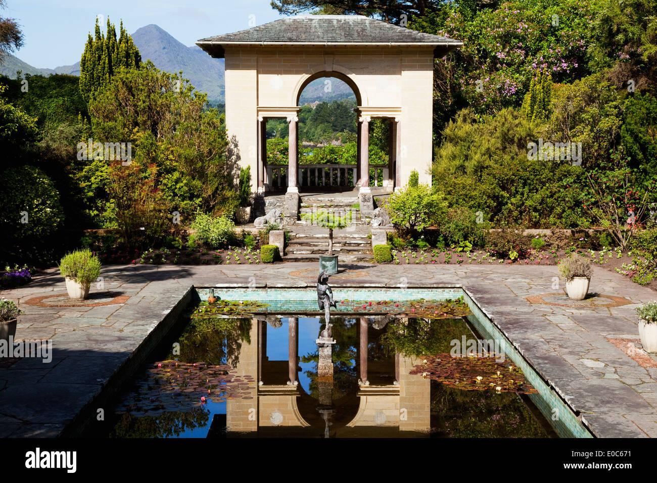 The Italian Gardens, near Glengarriff; County Cork, Ireland - Stock Image