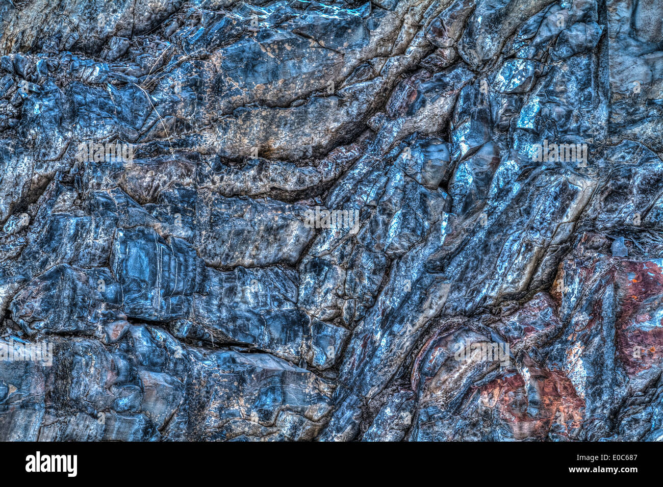 Rugged, textured, mountain rock face, full frame shot Stock Photo ...