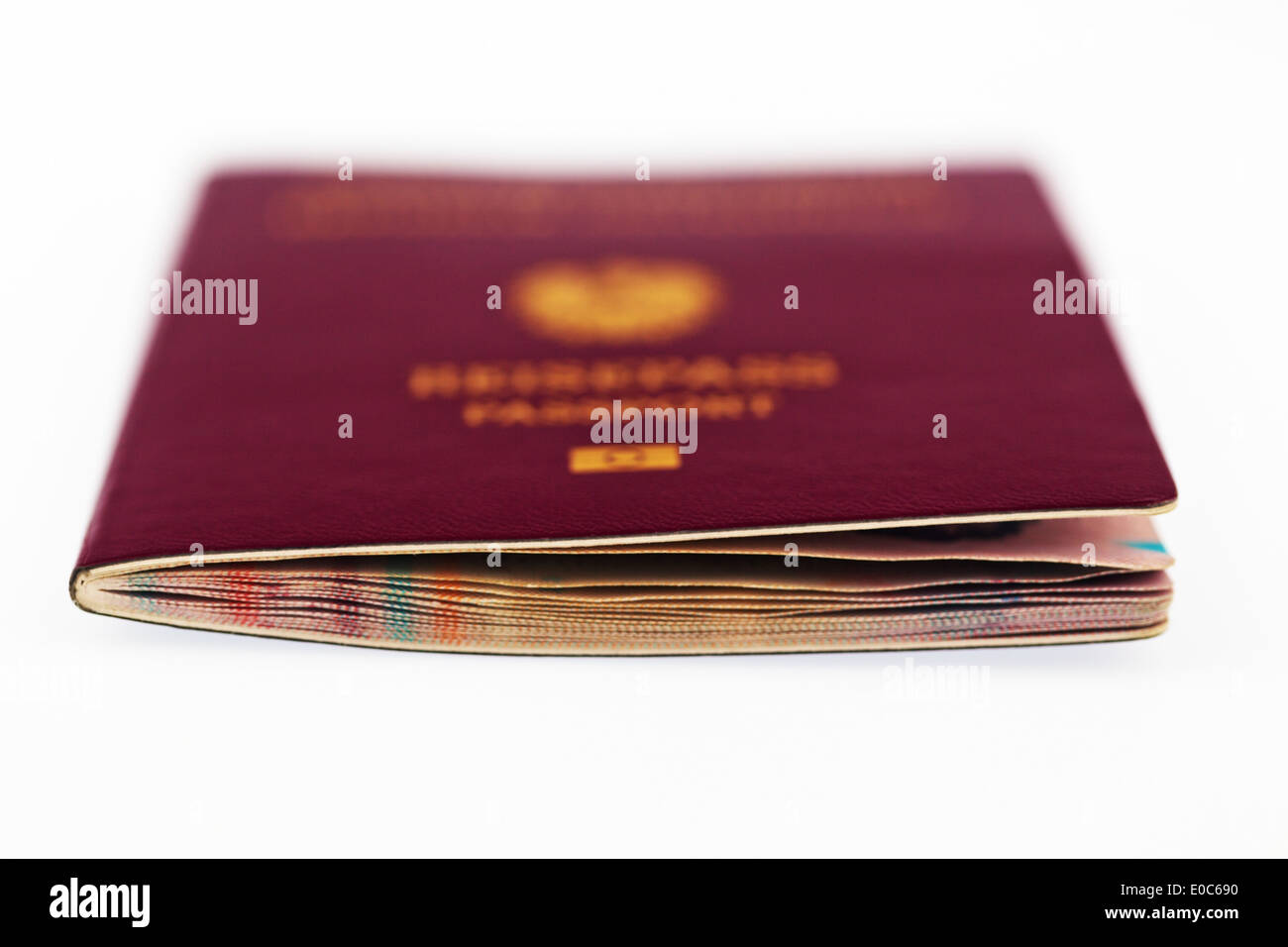 A red passport of the European Union Stock Photo