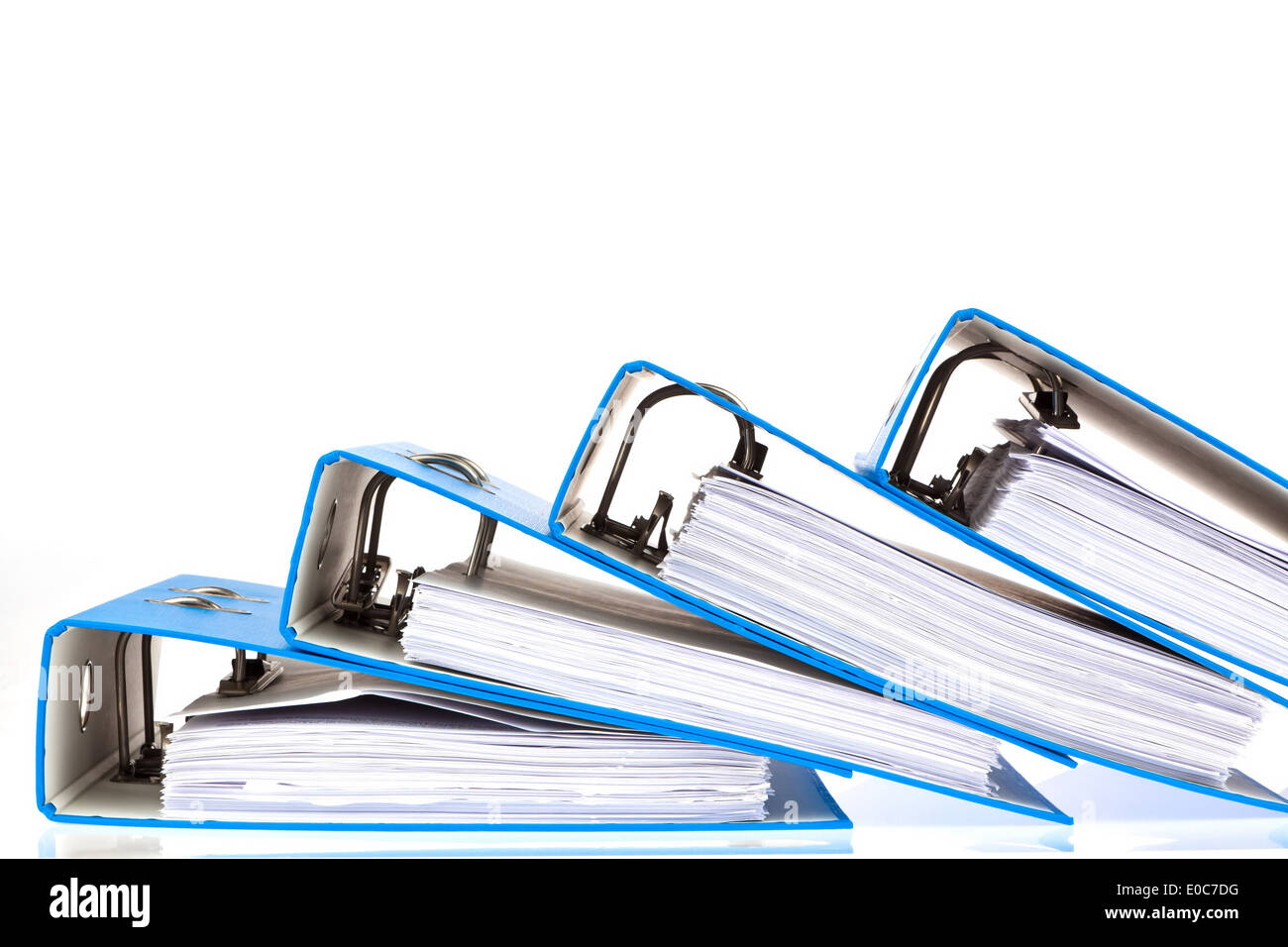 File with documents and documents. Safekeeping of contracts Stock Photo