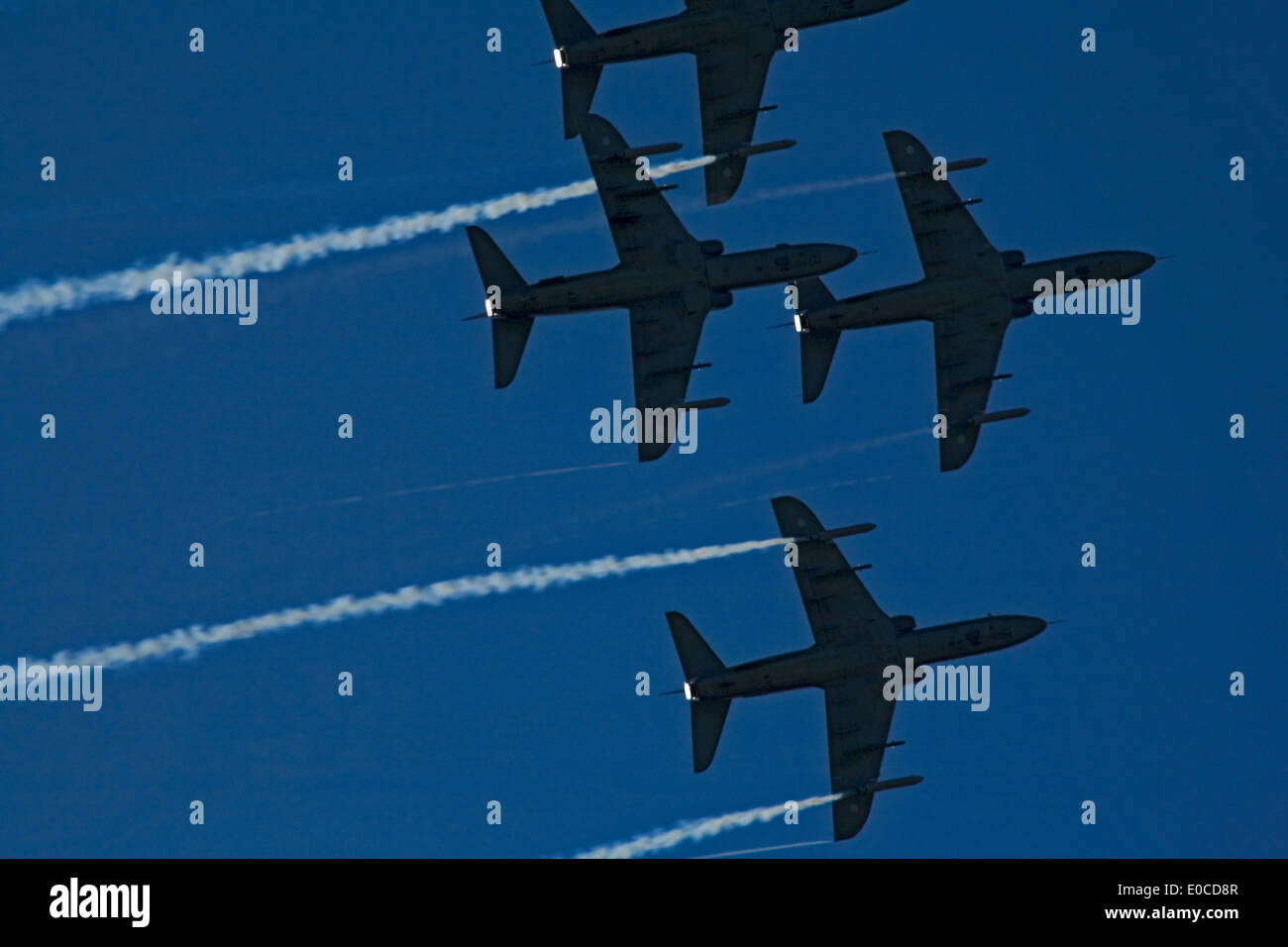 The Midnight Hawks is the aerobatic team of the Finnish Air Force. Helsinki Finland International AirShow in Malmi airport 17.8. - Stock Image