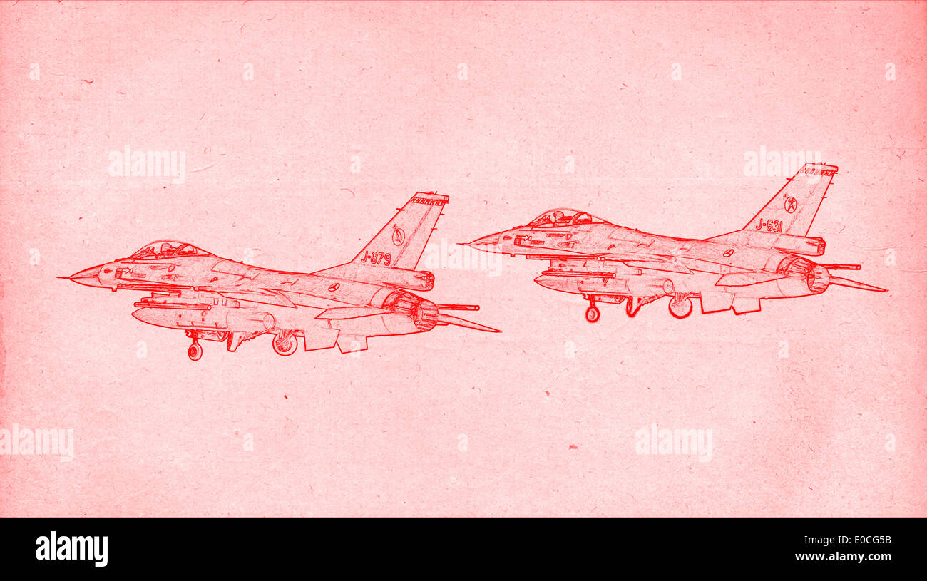 Technical drawing aircraft stock photos technical drawing aircraft grungy technical drawing or blueprint illustration on red background fighter jets stock image malvernweather Choice Image