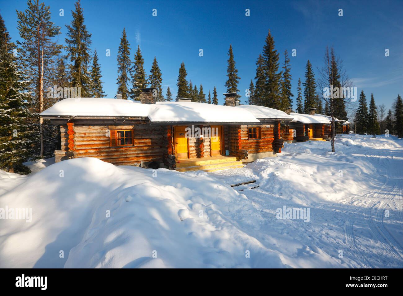 Finland Luosto - Hotel Luostotunturi, Cottage with Sauna. - Stock Image