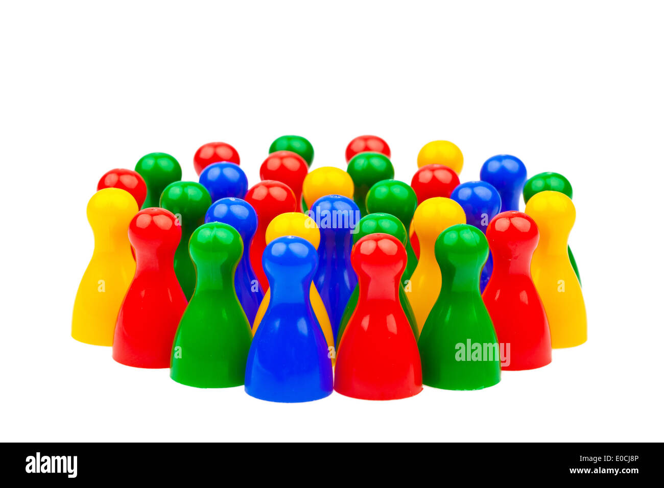 Integration by cooperation in the society. Equal rights - Stock Image