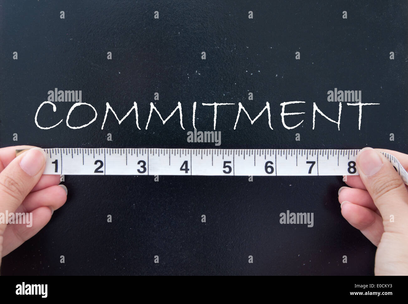 Measuring commitment - Stock Image