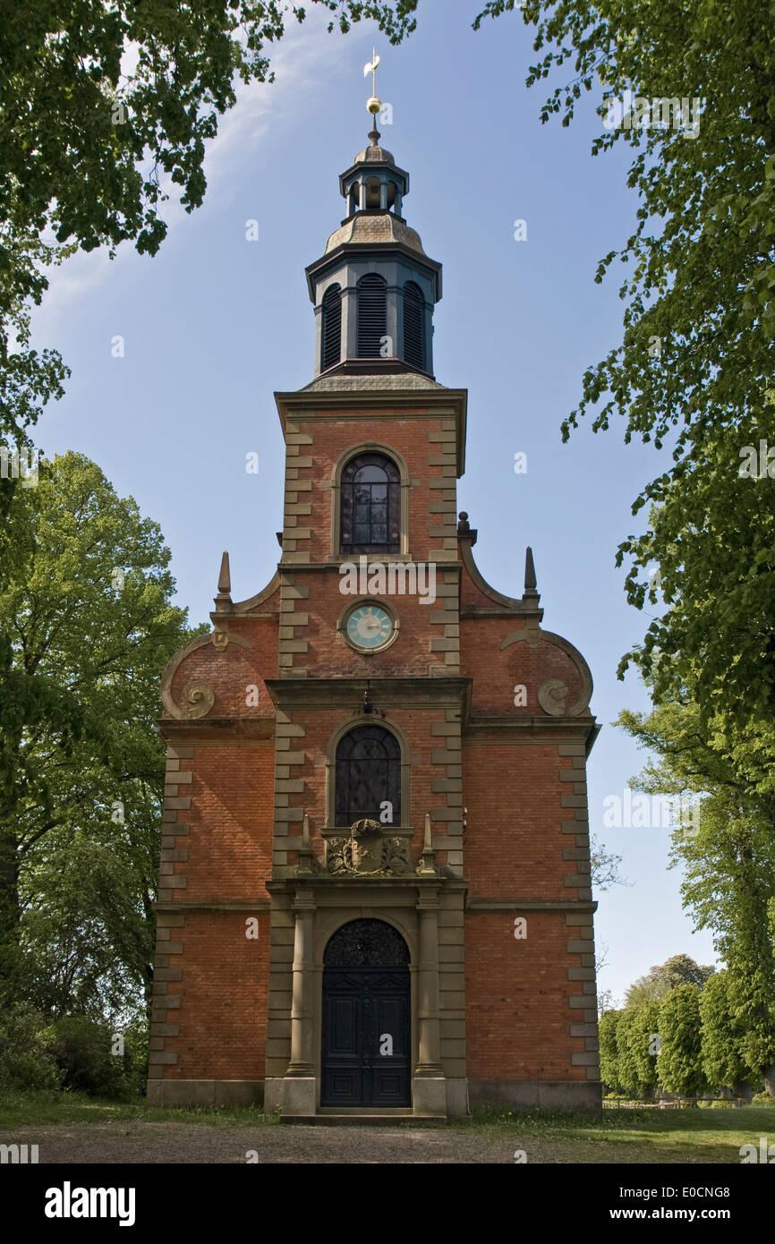 Europe,Germany,Schleswig Holstein,Panker,Panker Estate, Gutskapelle - Stock Image