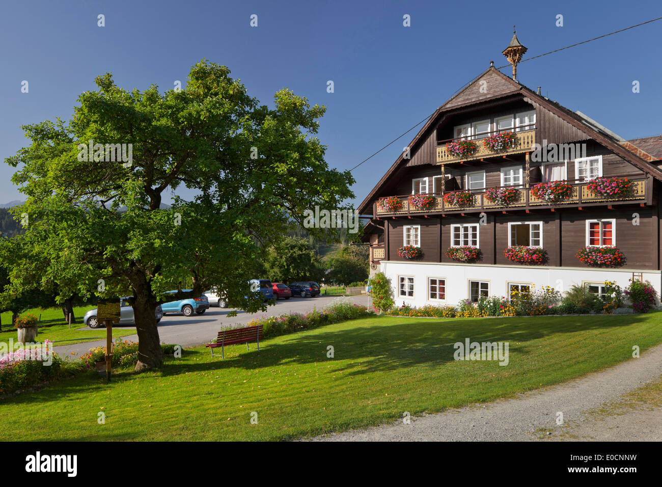 Farmhouse in Ramsau am Dachstein, Steiermark, Austria Stock Photo