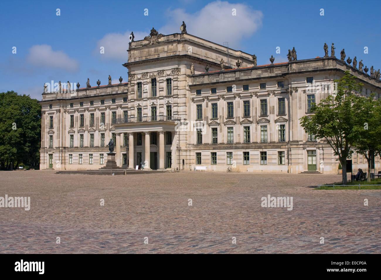 Europe, Germany,Mecklenburg-West Pomerania,Ludwigslust, Ludwigslust castle,Cityside - Stock Image