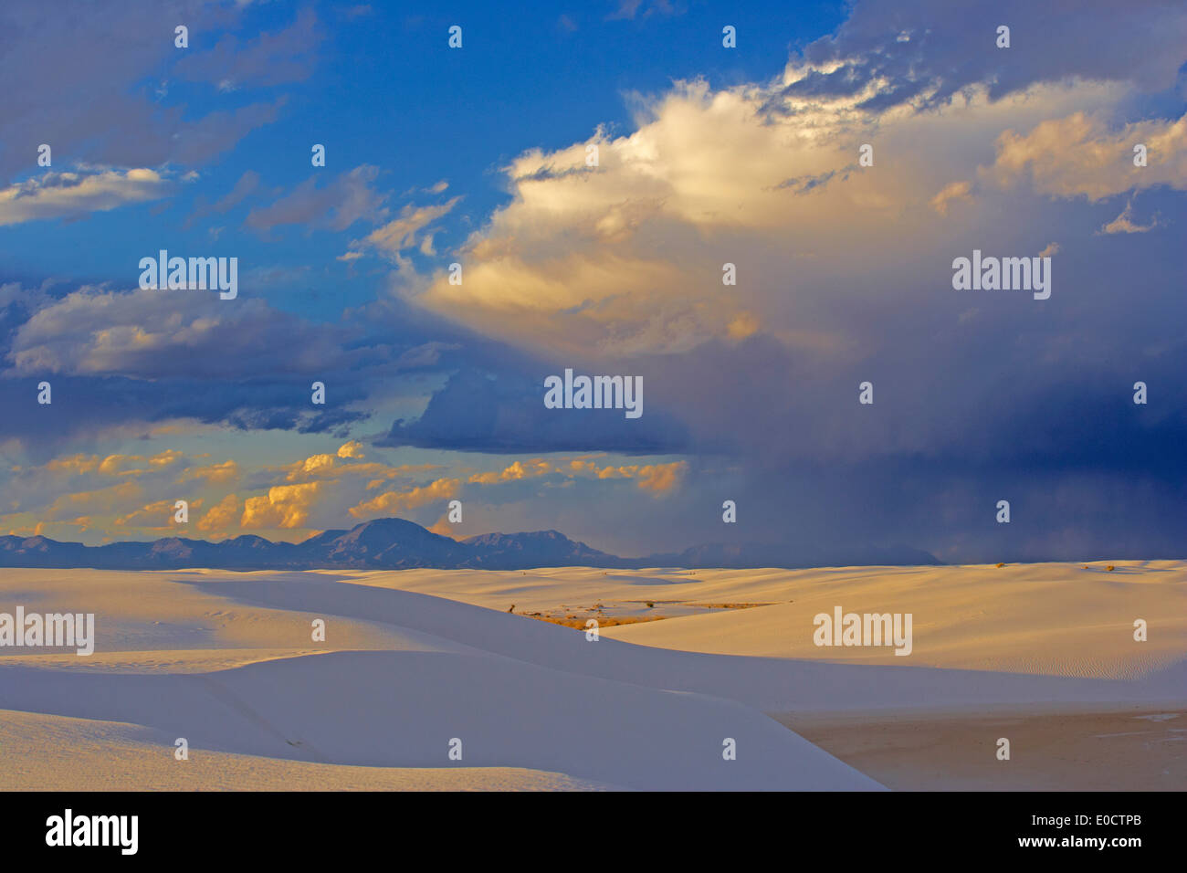 Evening at White Sands National Monument, New Mexico, USA, America - Stock Image
