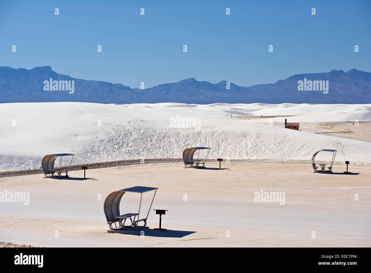 White Sands National Monument, New Mexico, USA, America - Stock Image