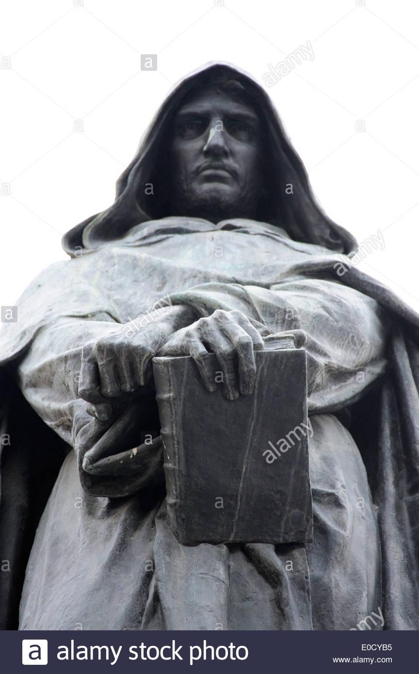 Monument, statue of the philosopher Giordano Bruno on the Campo de Fiori square, old city centre, Rome, Roma, Italy, Europe - Stock Image
