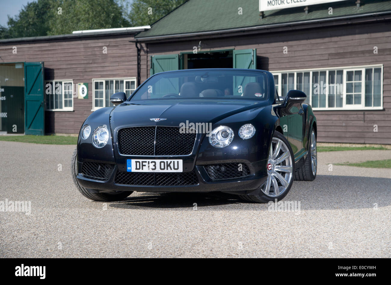 2013 Bentley GTC luxury British convertible car - Stock Image