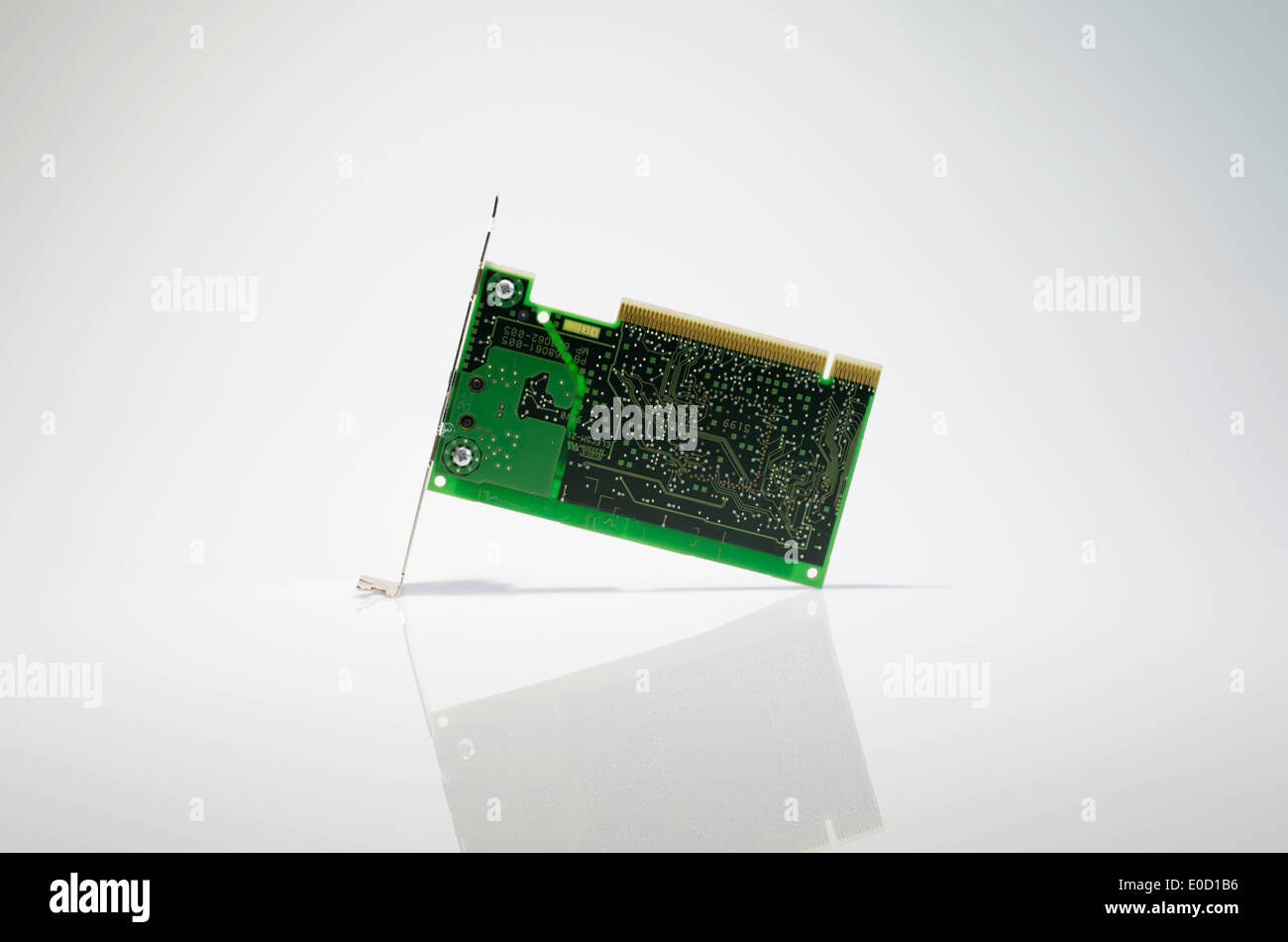 Lan card , a part of computer for lan connect to network and internet - Stock Image