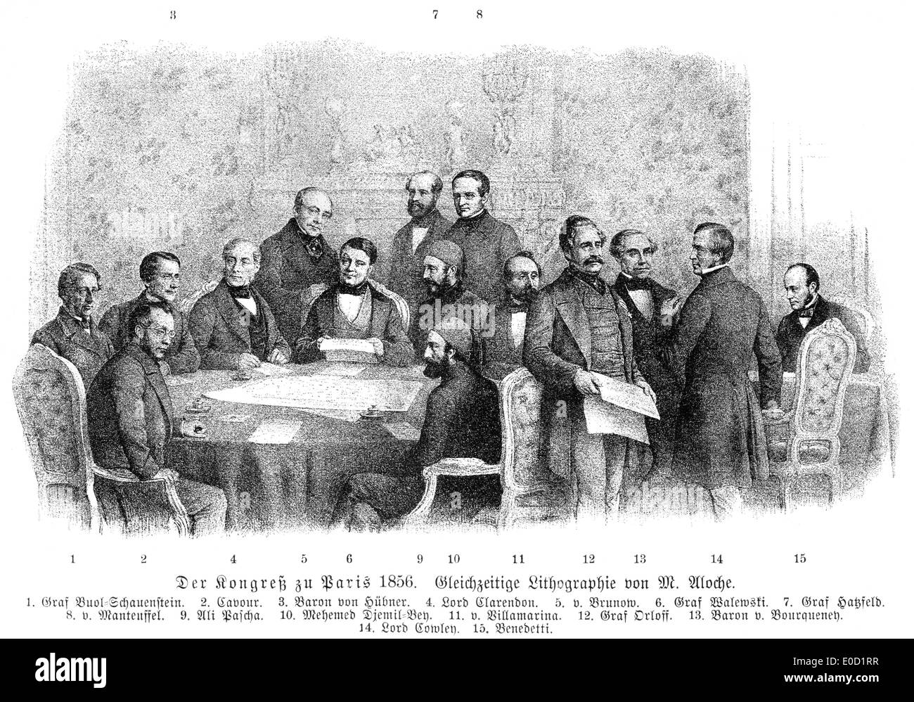 Treaty of Paris, 1856, ended the Crimean War, - Stock Image