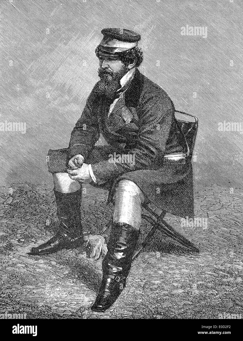 Sir William Howard Russell, 1820 - 1907, a Irish reporter with The Times, first modern war correspondent, - Stock Image