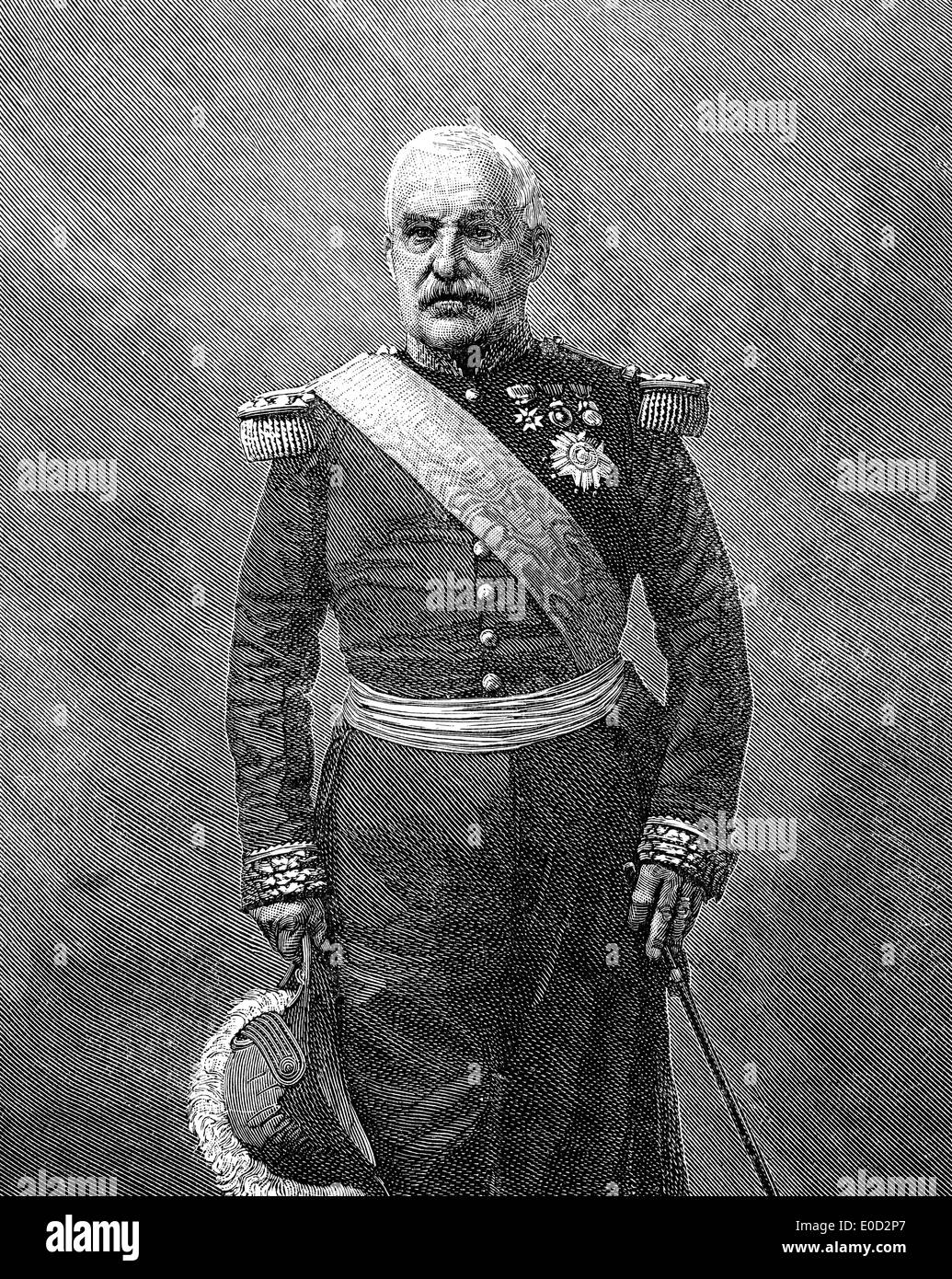 Aimable Jean Jacques Pélissier, 1st Duc de Malakoff , 1794-1864, a marshal of France - Stock Image