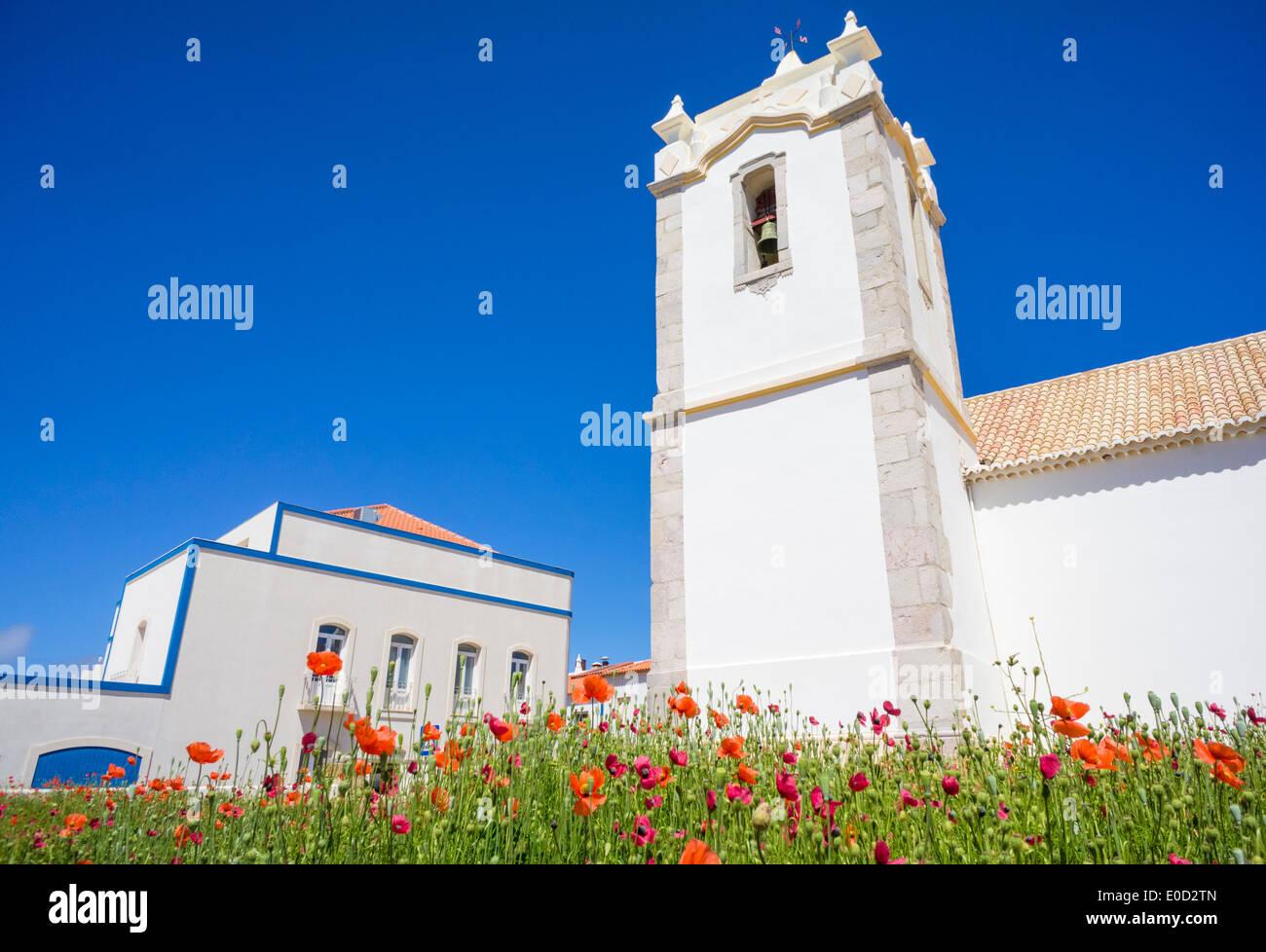 Church of Nossa Senhora da Conceição is the small church in Vila do Bispo Algarve Portugal EU Europe - Stock Image
