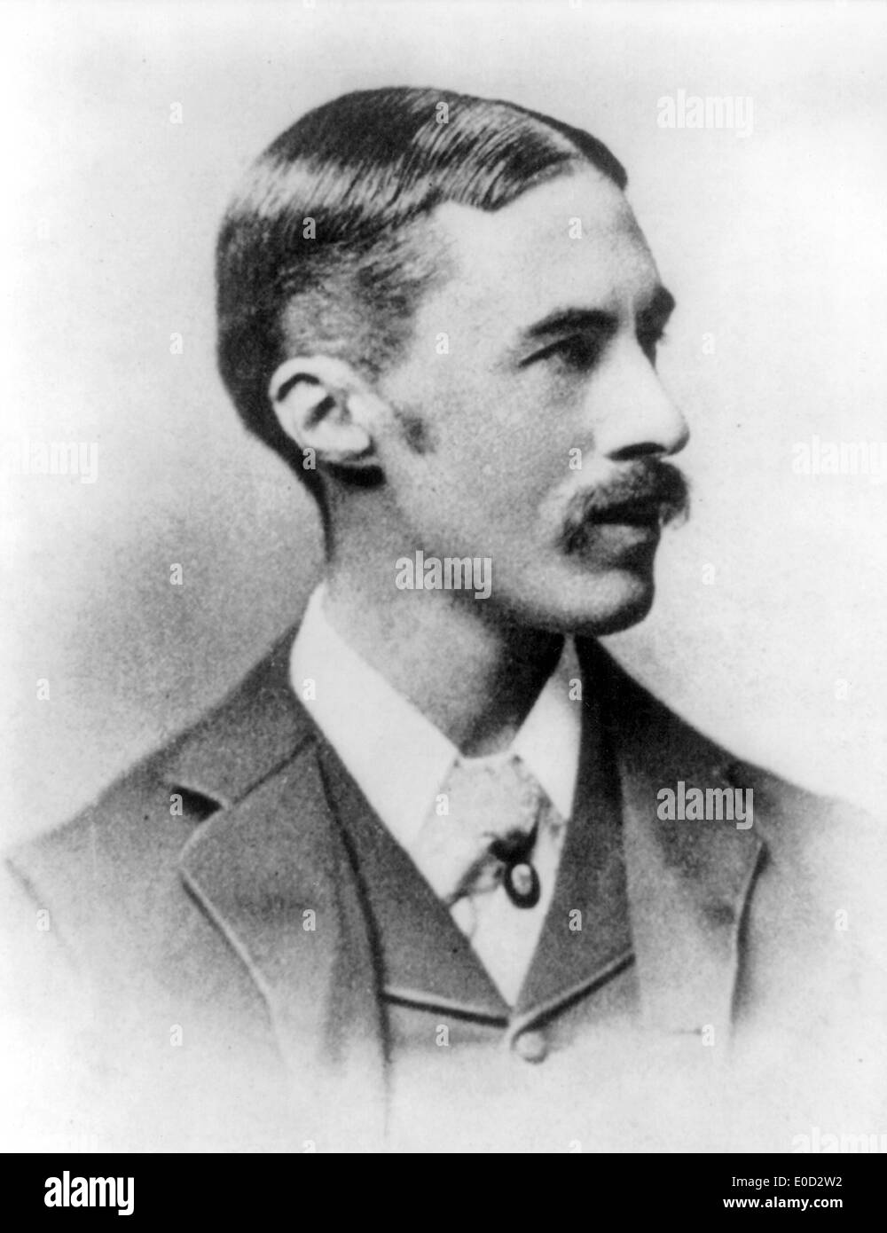 A.E.HOUSMAN (1858-1936) English classical scholar and poet about 1900 - Stock Image