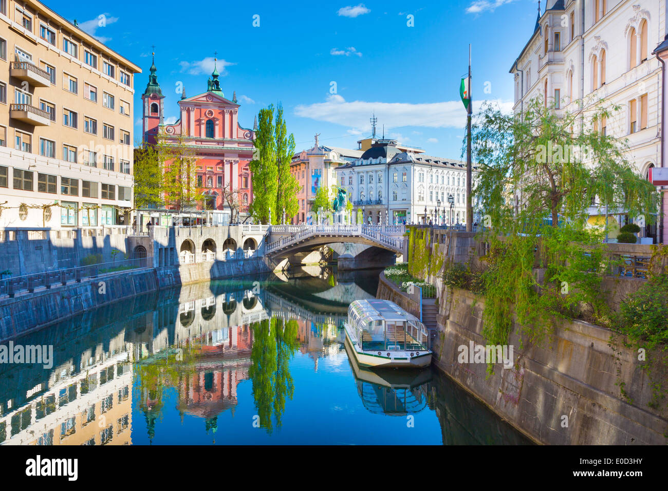 Panorama of Ljubljana, Slovenia, Europe. - Stock Image