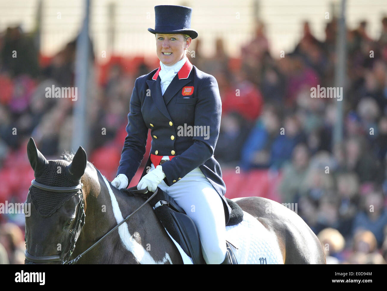 Badminton, UK. 09th May, 2014. England. Nicola Wilson (GBR) riding Beltane Queen during the Dressage stage of the Stock Photo