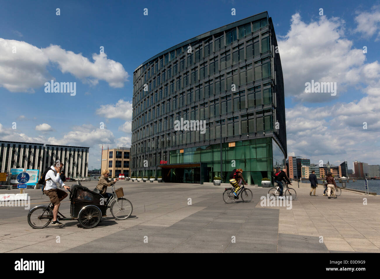 Aller Press media house – corporate building in Copenhagen. Denmark - Stock Image