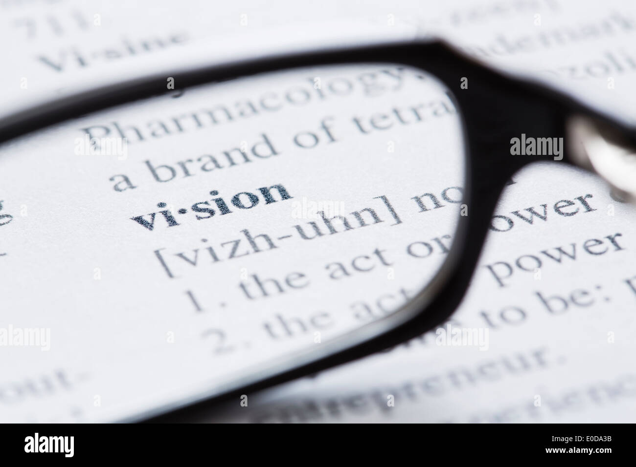Definition of 'vision' in dictionary Stock Photo: 69134783