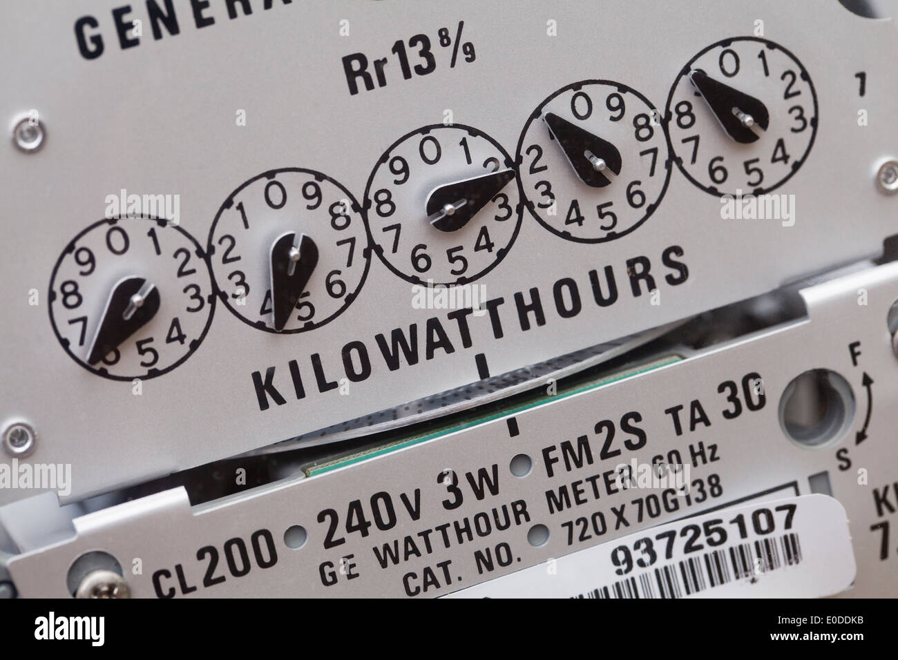 Electric meter - USA - Stock Image