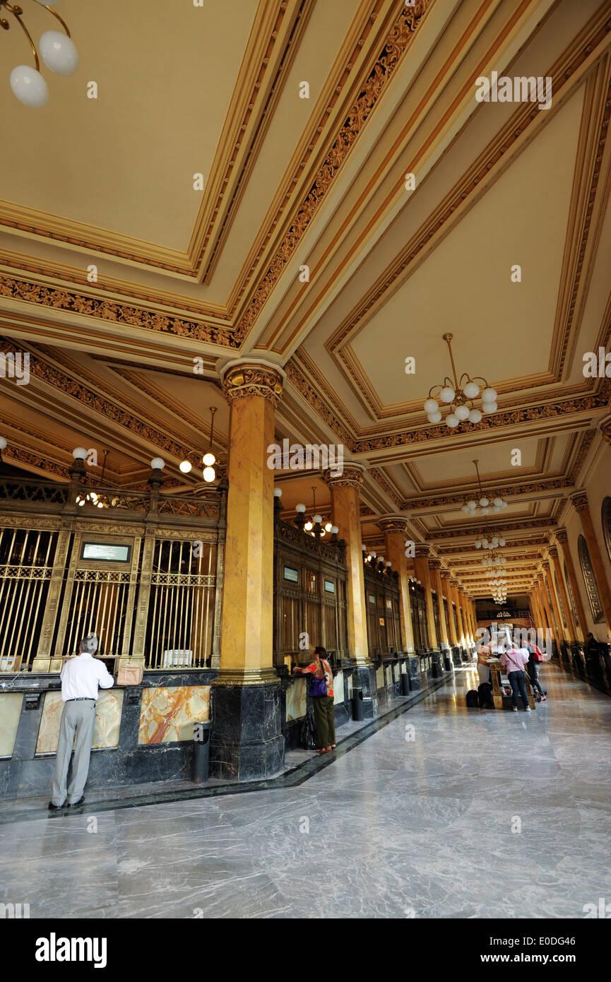 Palacio Postal (Post Office) (Palacio de Correos de Mexico) in Mexico City. Early 20th century palace. Stock Photo